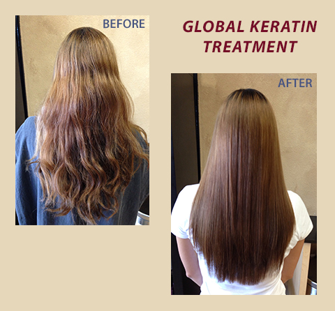 Global Keratin Treatment – Before & After